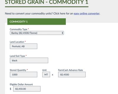 FARM CASH MOVES FORWARD